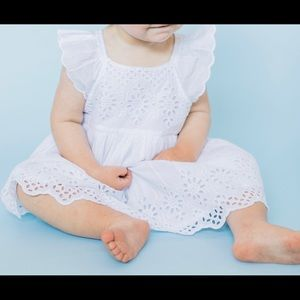 New Baby Gap white eyelet dress with bloomer